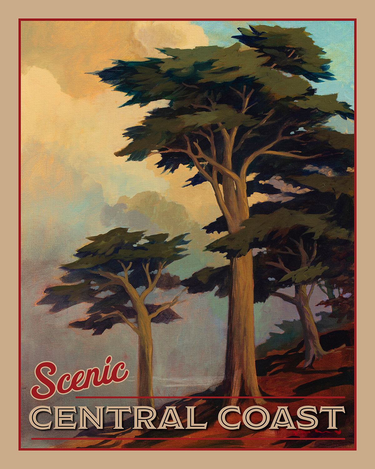 Coastal California I - Travel Poster