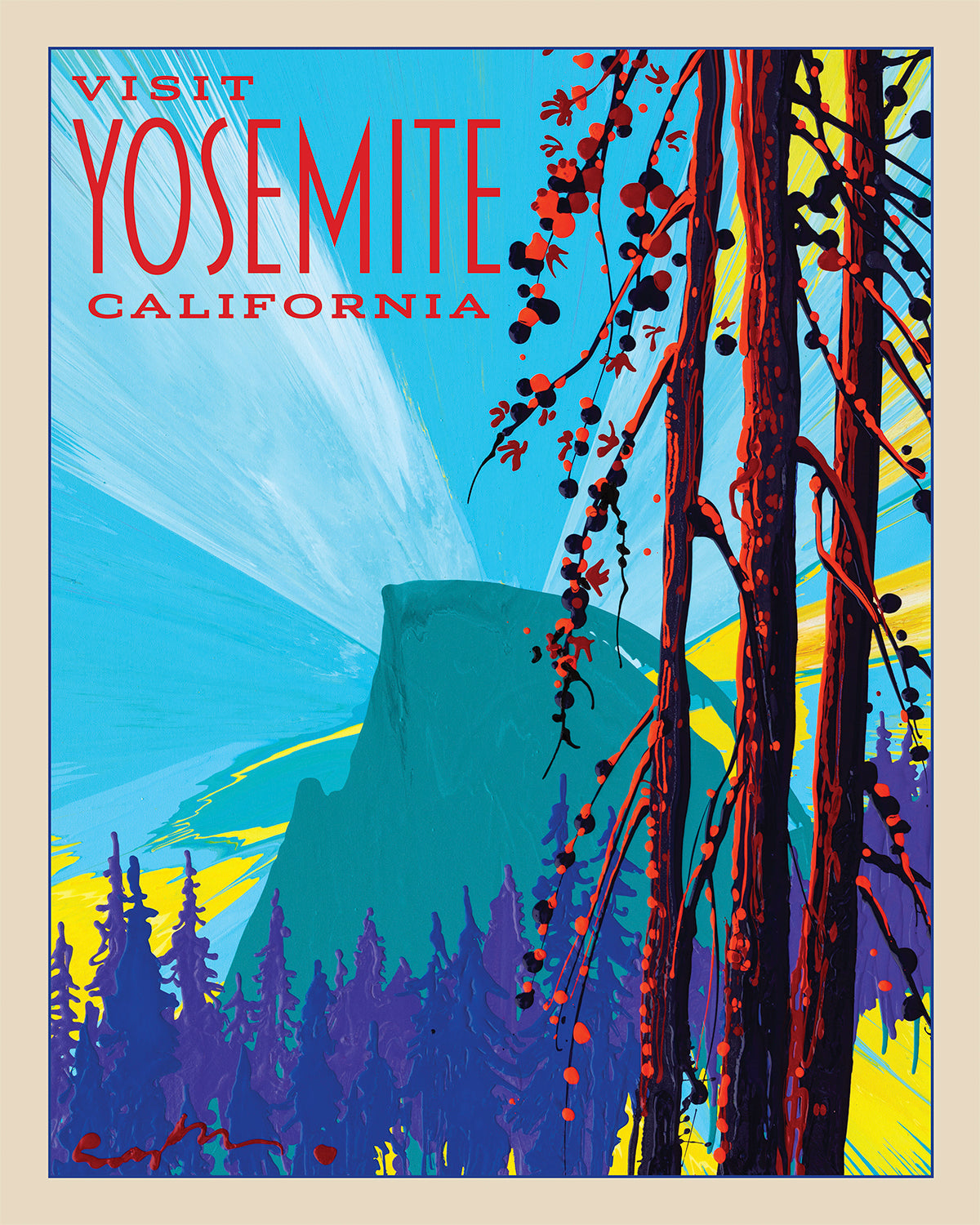 Yosemite: Dawn Half Dome - Travel Poster