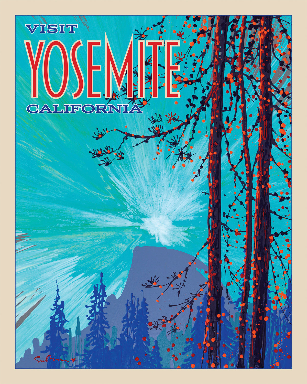 Yosemite: Half Dome - Travel Poster