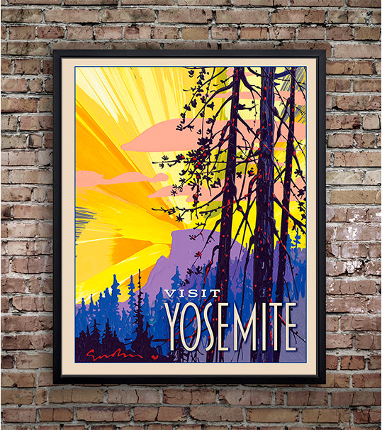 Yosemite: New Day Half Dome - Travel Poster