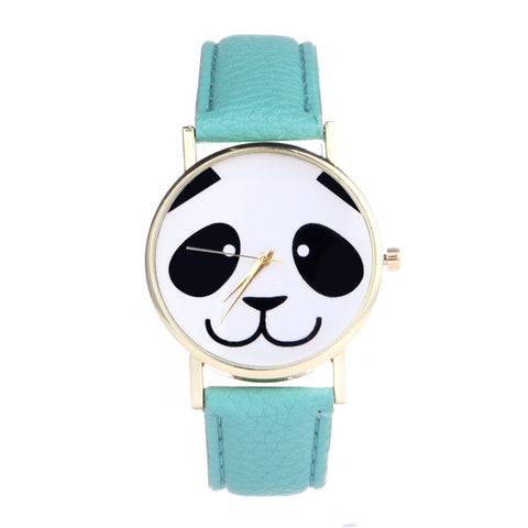 Lovely Panda Leather Belt Watches