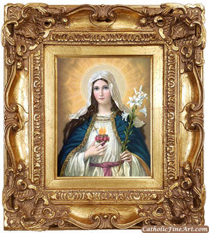 Immaculate Heart of Mary Ornate Frame