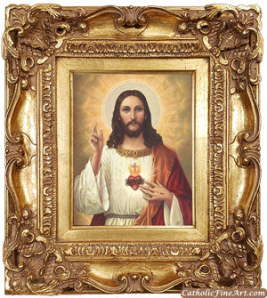 Sacred Heart Ornate Frame