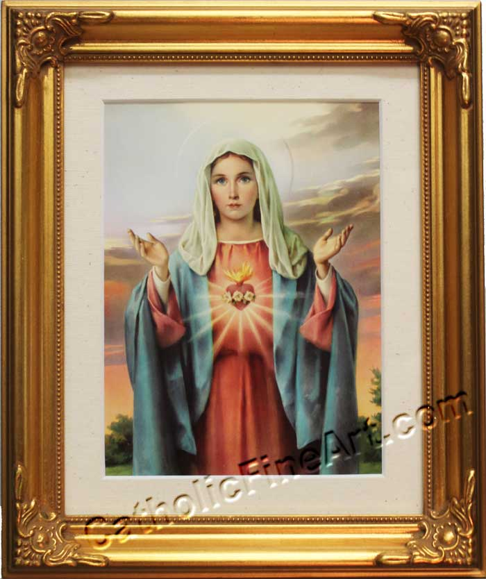 Immaculate Heart of Mary Gold Frame