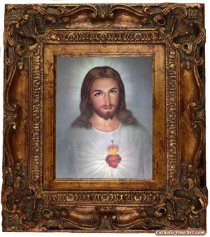 Sacred Heart of Jesus Ornate Frame