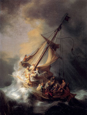 Storm at the Sea of Galilee Canvas