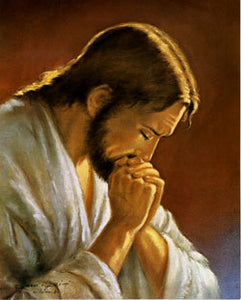 Jesus Praying Art Print