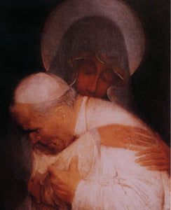 Embraced Pope JP II Art Print