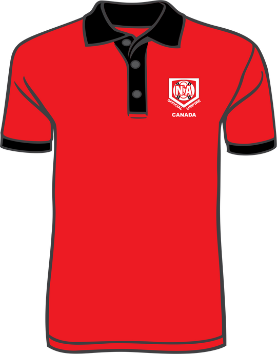 NSA Canada Red Official Ump Polo