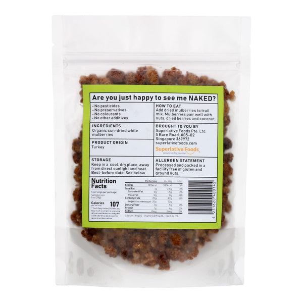 Organic Sundried White Mulberries