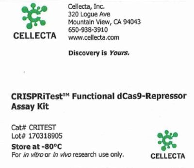 Cellecta CRISPRitest™ Functional dCas9-Repressor Assay Kit