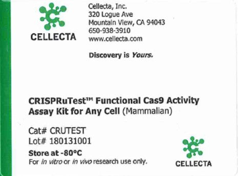 Cellecta CRISPRuTest™ Functional Cas9 Activity Assay Kit for Any Cell (Mammalian)
