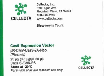 Cellecta Cas9 Expression Vector
