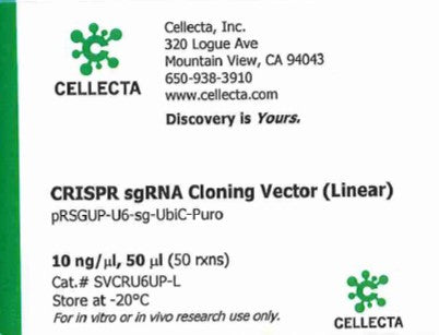 Cellecta CRISPR sgRNA Cloning Vector (Linear)