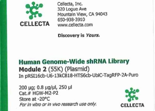 Cellecta Human Genome-Wide shRNA Library Module 2 (Plasmid)
