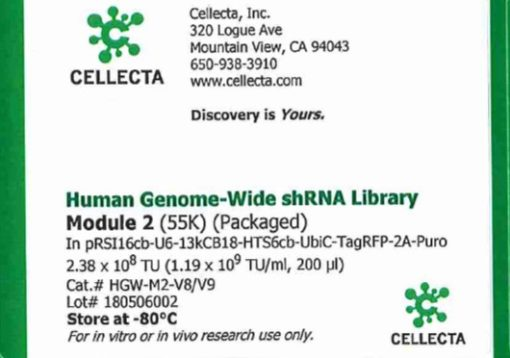 Cellecta Human Genome-Wide shRNA Library Module 2 (Packaged)