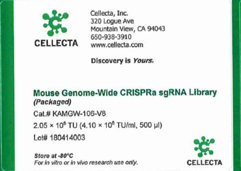 Cellecta Mouse Genome-Wide CRISPRa sgRNA Library (Packaged)