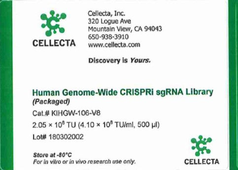 Cellecta Human Genome-Wide CRISPRi sgRNA Library (Packaged)