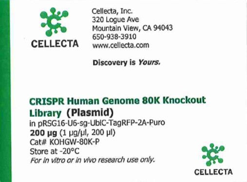 Cellecta CRISPR Human Genome 80K Knockout Library (Plasmid)