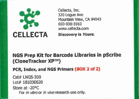 Cellecta NGS Prep Kit for Barcode Libraries in pScribe (CloneTracker XP™)