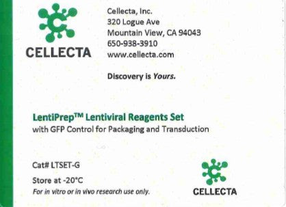 Cellecta LentiPrep™ Lentiviral Reagent Set with GFP Control for Packaging and Transduction