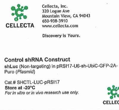 Cellecta Control shRNA Construct