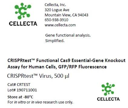 CRISPRtest™ Essential-Gene Cas9 Knockout Assay Human or Mouse Cells (for 5 cell line pairs)