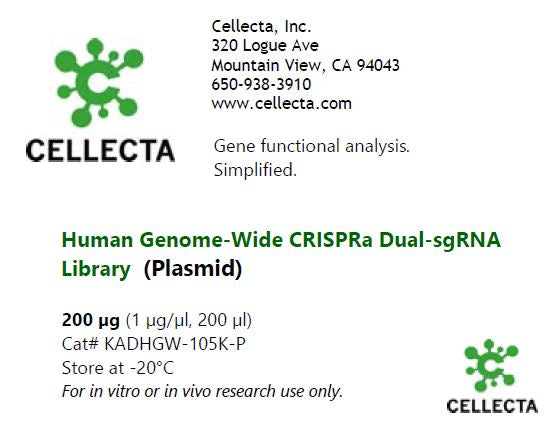 Cellecta Human dual-guide CRISPRa library-plasmid