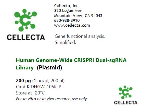 Cellecta Human dual-guide CRISPRi library-plasmid