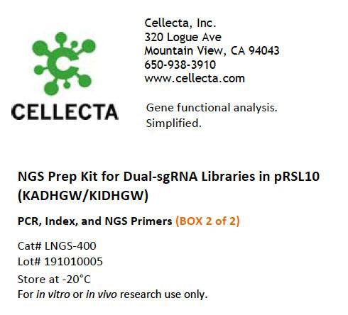 NGS Prep Kit for Dual-sgRNA Libraries in pRSL10 (KADHGW/KIDHGW)