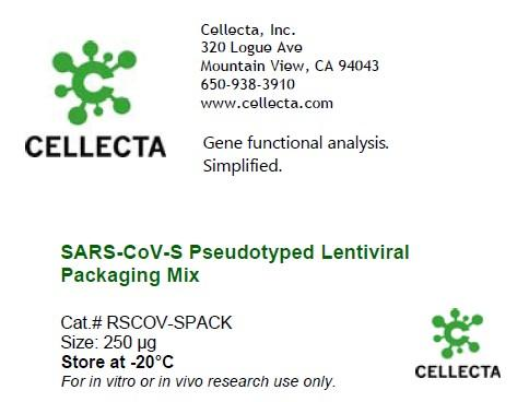 SARS-CoV-S Pseudotyped Lentiviral Packaging Mix (enough for ~12 10-cm2 plates to make ~1-2 x 10^7 TU)