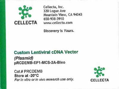 Cellecta Custom Lentiviral cDNA Vector