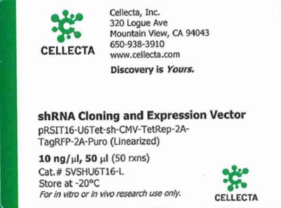 Cellecta shRNA Cloning and Expression Vector