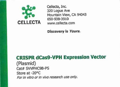 Cellecta CRISPR dCas9-VPH Expression Vector