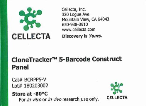 Cellecta CloneTracker 5-Barcode Construct Panel