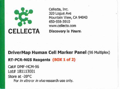 Cellecta DriverMap Human Cell Marker Panel (96 Multiplex)