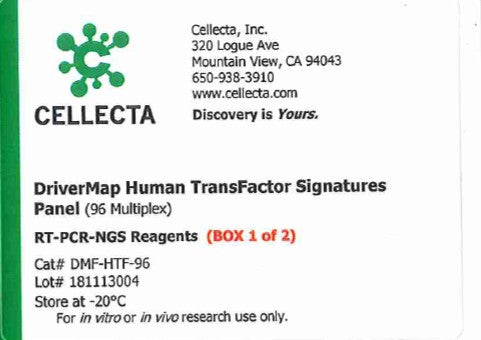 Cellecta DriverMap Human TransFactor Signatures Panel (96 Multiplex)