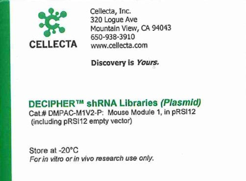 Cellecta DECIPHER shRNA Libraries (Plasmid)
