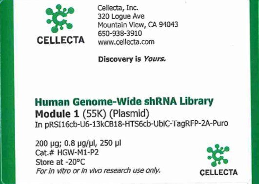 Cellecta Human Genome-Wide shRNA Library Module 1 (Plasmid)