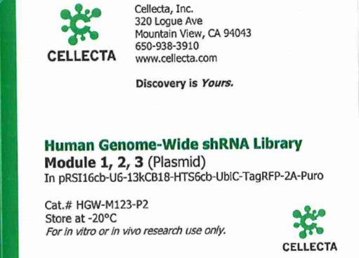 Cellecta Human Genome-Wide shRNA Library Module 1, 2, 3 (Plasmid)|