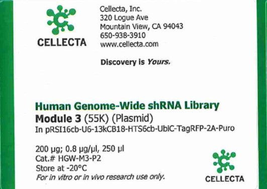 Cellecta Human Genome-Wide shRNA Library Module 3 (Plasmid)