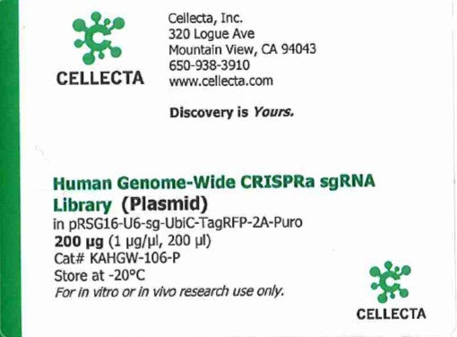 Cellecta Human Genome-Wide CRISPRa sgRNA Library (Plasmid)