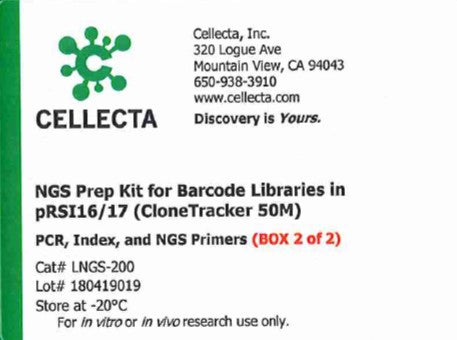 Cellecta NGS Prep Kit for Barcode Libraries in pRSI16/17 (CloneTracker 50M)