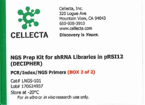 Cellecta NGS Prep Kit for shRNA Libraries in pRSI12 (DECIPHER)