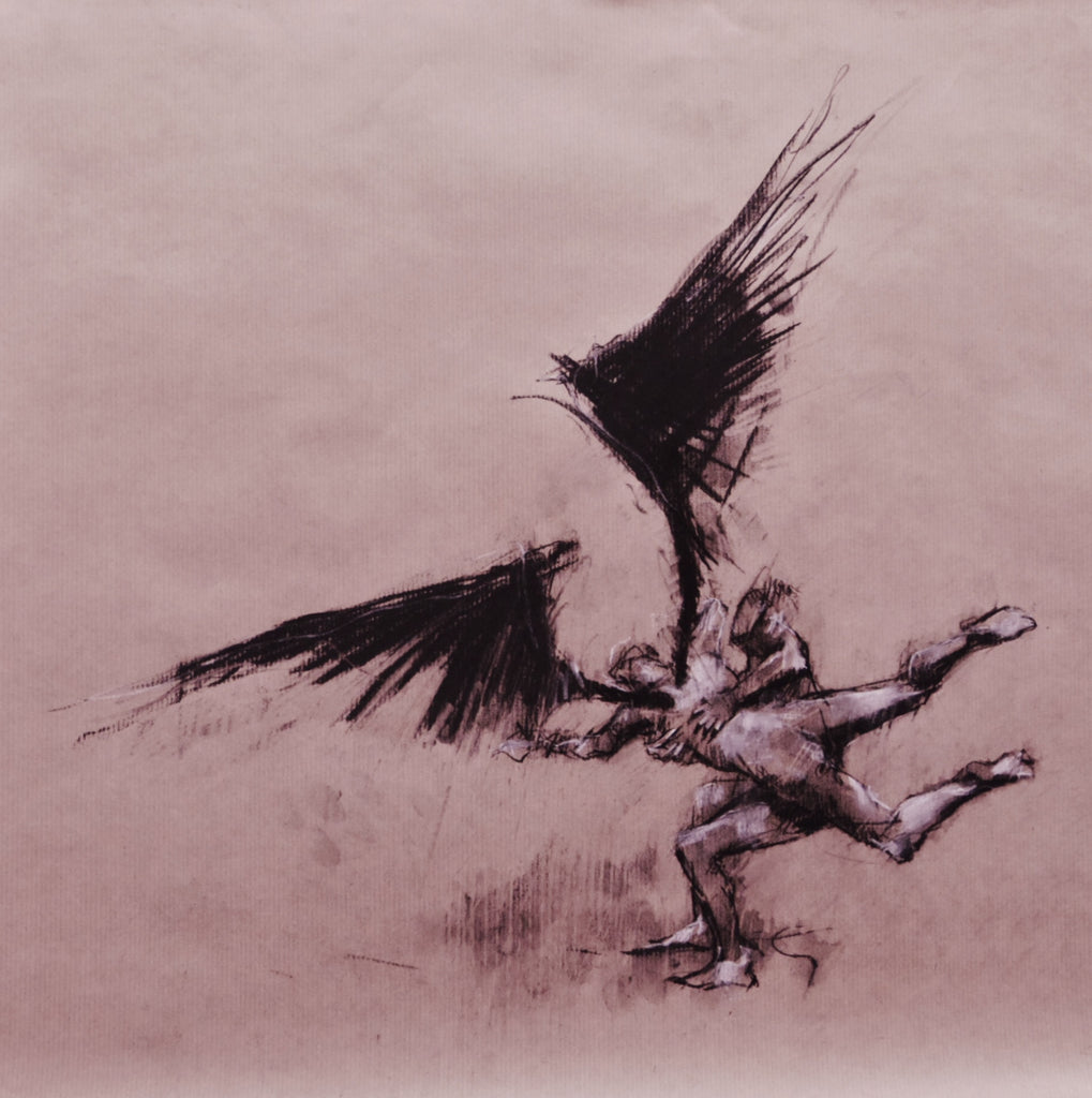 Guy Denning: Jacob and the angel (preparatory sketch)