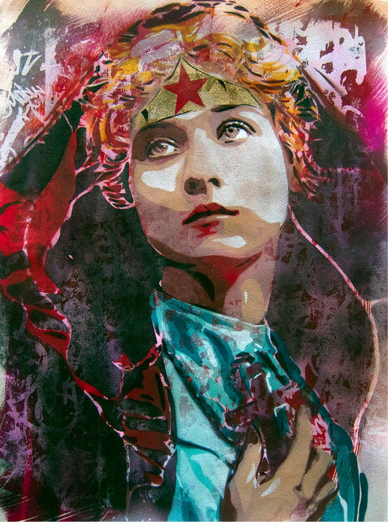 BTOY: Holly Wonder Woman - prettyportal artshop, limited edition prints, urban contemporary art, streetart