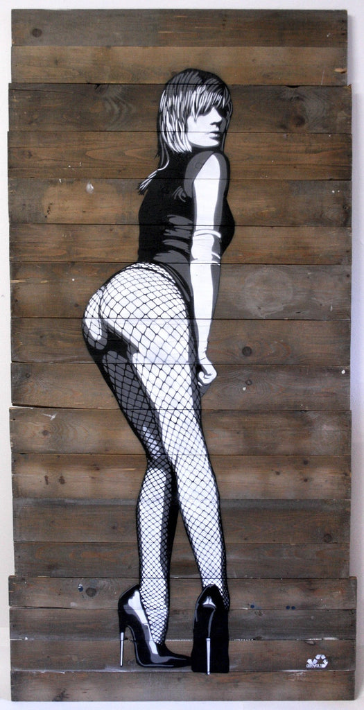 DECYCLE - Streetwalker - prettyportal artshop, limited edition prints, urban contemporary art, streetart