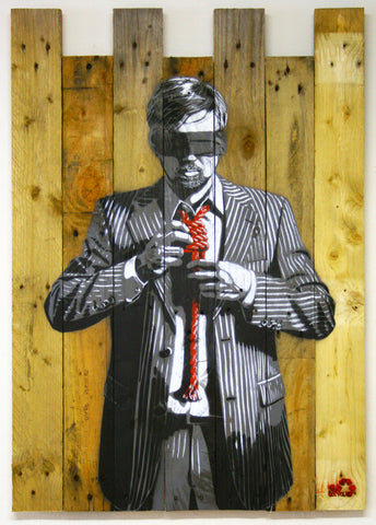 DECYCLE - Down to business (Red Wood Edition) - prettyportal artshop, limited edition prints, urban contemporary art, streetart