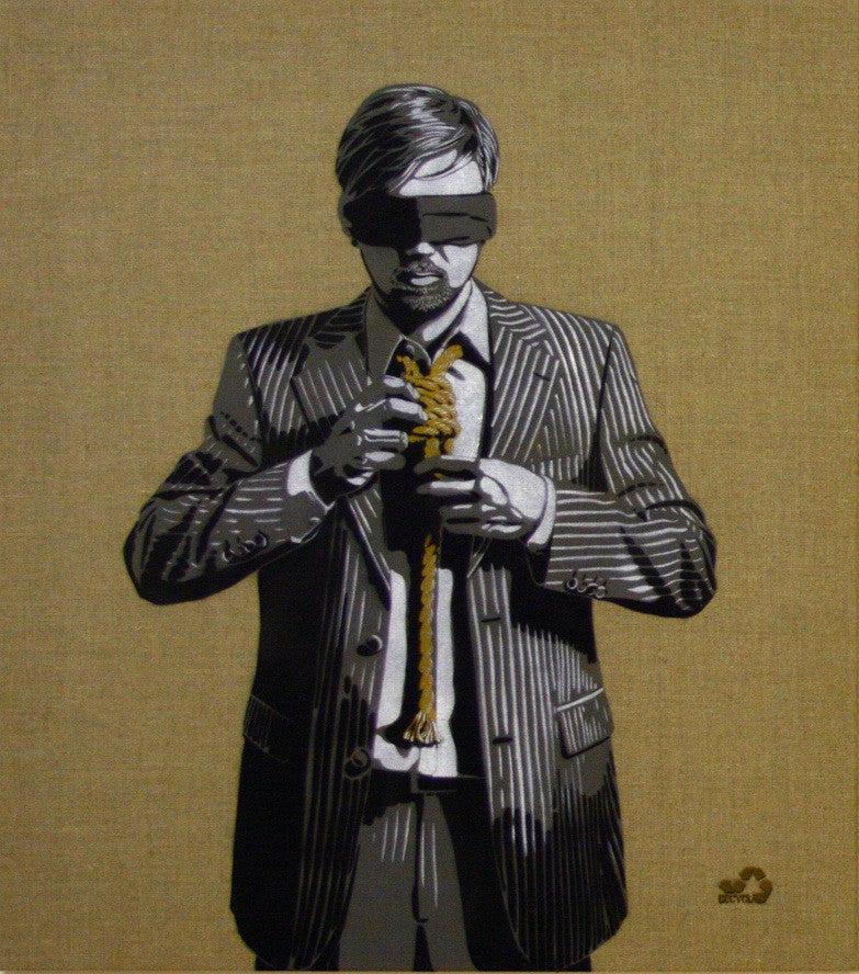 DECYCLE: Down To Business (Gold Edition) - prettyportal artshop, limited edition prints, urban contemporary art, streetart