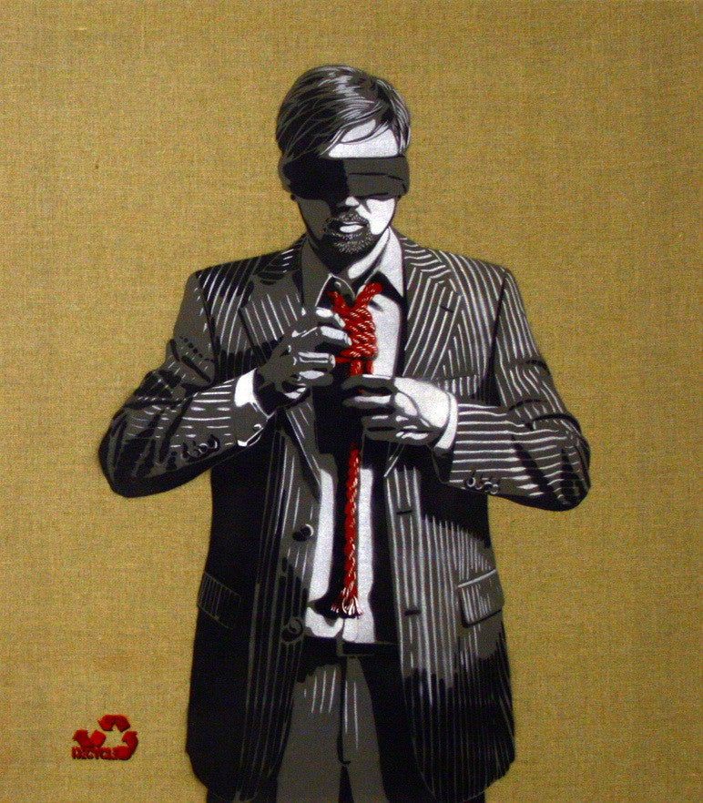 DECYCLE: Down To Business (Red Edition) - prettyportal artshop, limited edition prints, urban contemporary art, streetart
